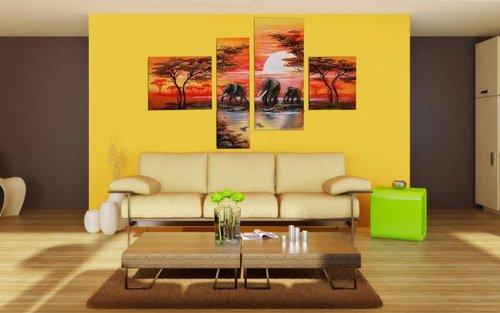 составная картина в гостиной