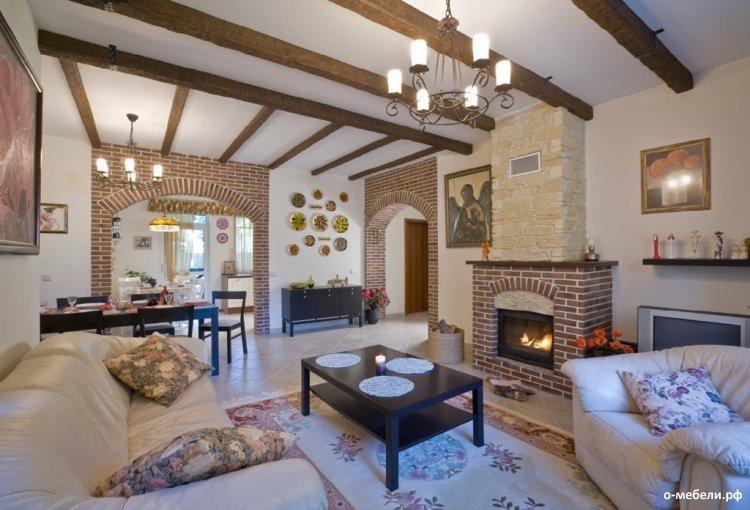 дизайн гостиной загородного дома фото