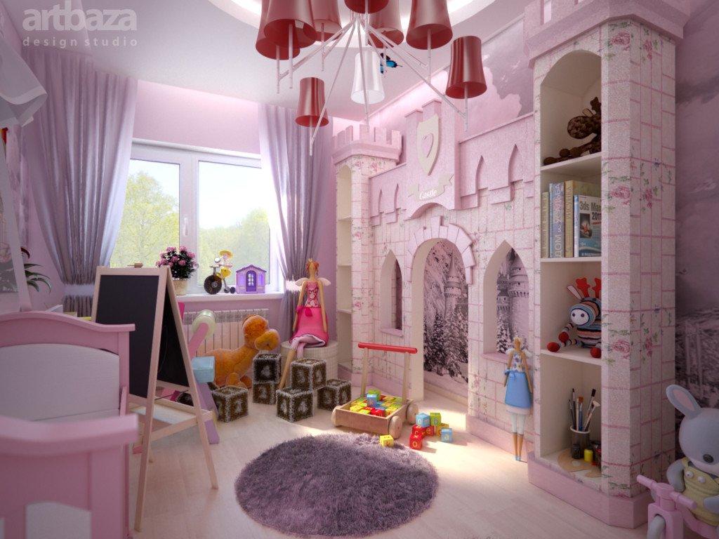 дизайн комнаты для двух девочек разного возраста