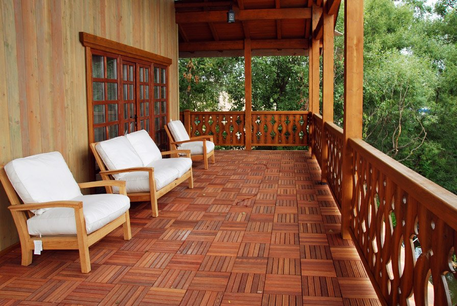 дизайн террасы загородного дома фото