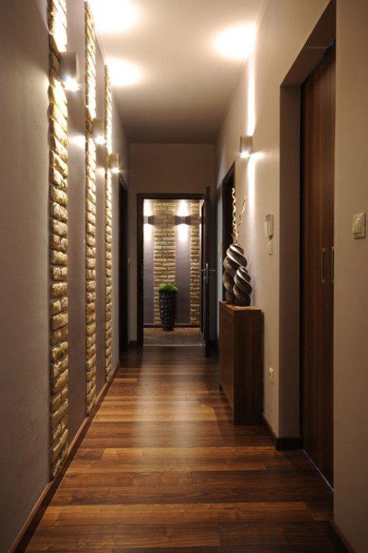дизайн узкого длинного коридора фото
