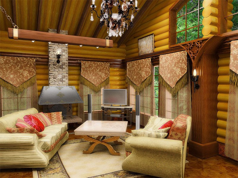 дизайн загородного дома внутри фото