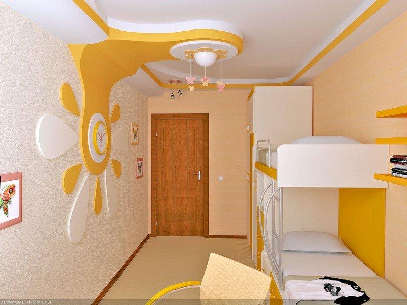 интерьер детской комнаты для 2 мальчиков фото
