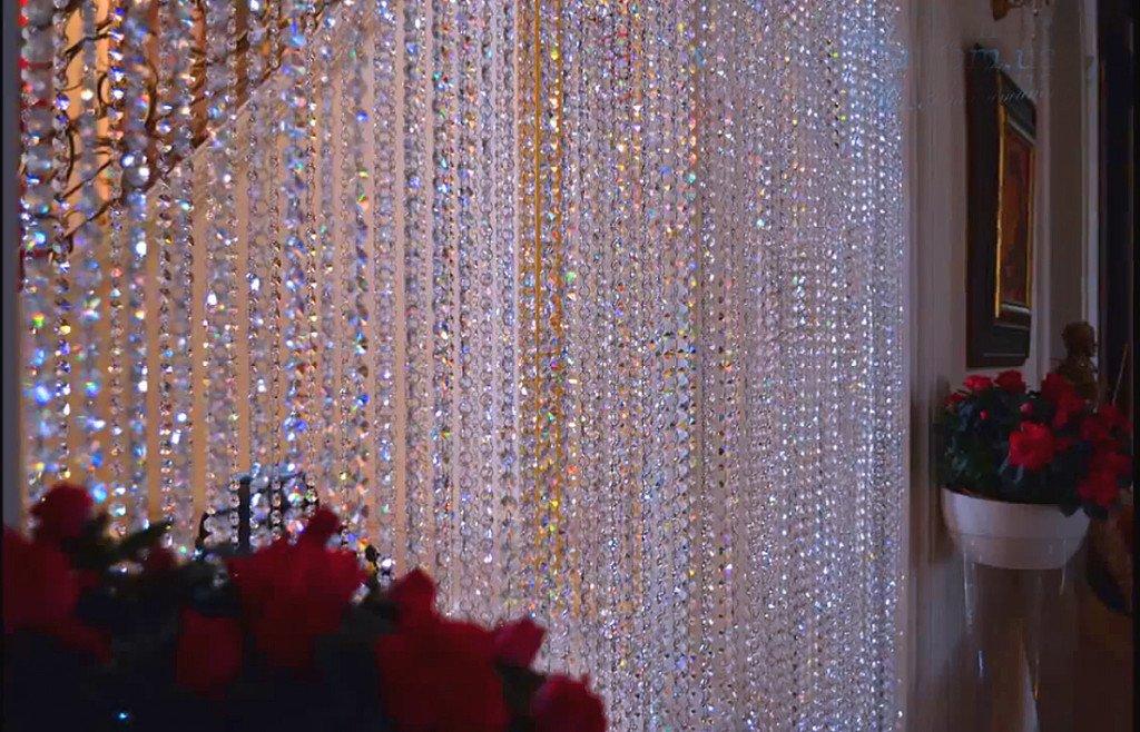 хрустальные шторы в интерьере фото