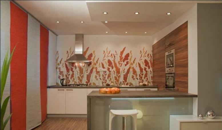 дизайн покраски стен на кухне фото