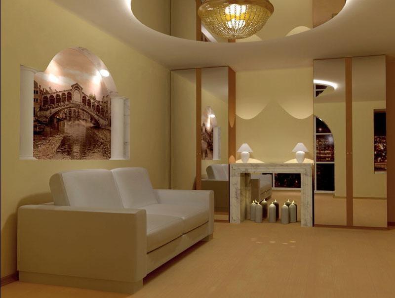 дизайн покраски стен в квартире
