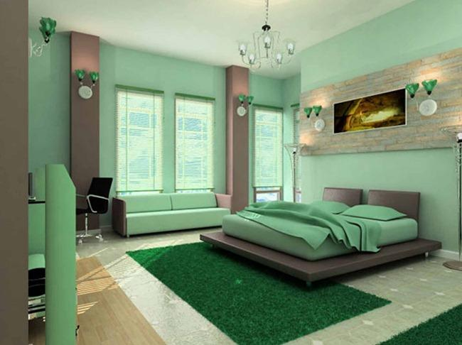дизайн покраски стен в спальне фото