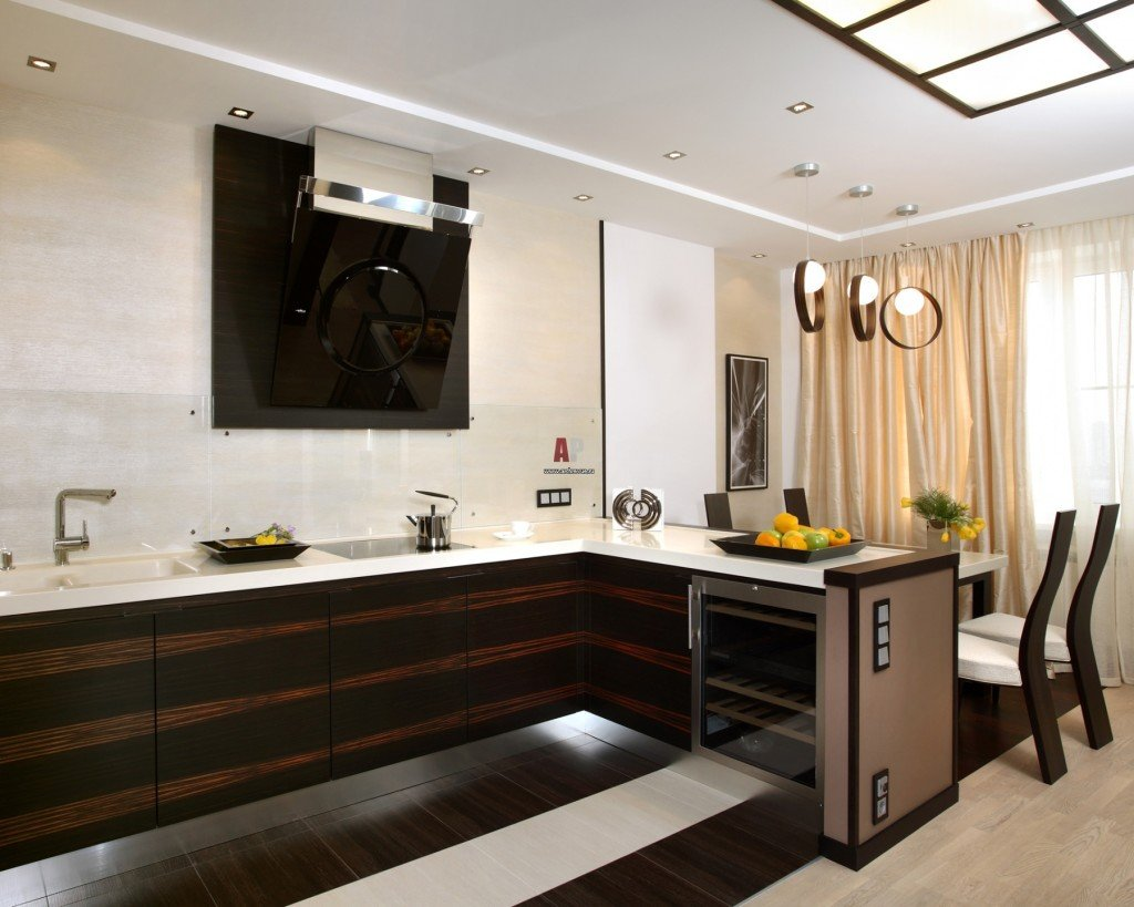 современный минимализм в интерьере кухни фото