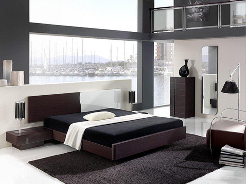 современный минимализм в интерьере спальни