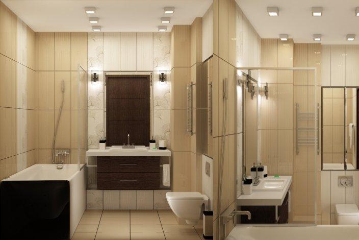 современный минимализм в интерьере ванной