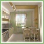 дизайн прямоугольной кухни 9 кв м фото
