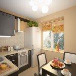 дизайн узкой кухни 9 кв м фото