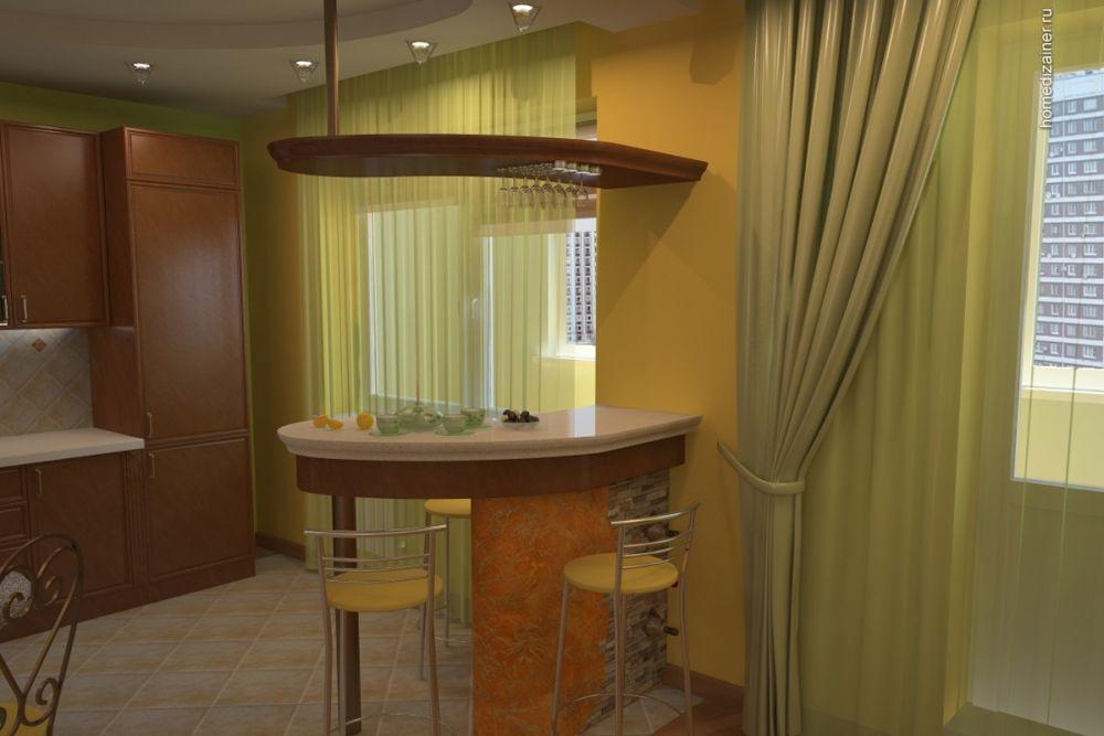 фото арок на кухне с барной дрель кардинально