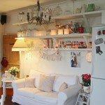 дизайн маленькой кухни с диваном фото