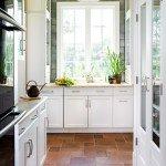 дизайн пола на кухне из плитки фото