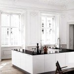 дизайн черно белой кухни фото