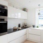 дизайн кухни в черно белом цвете фото
