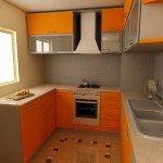 дизайн угловой кухни с окном фото