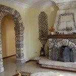 фото арки из декоративного камня