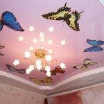 современные потолки из гипсокартона фото