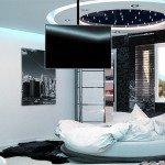 интерьер спальни в стиле хай тек фото