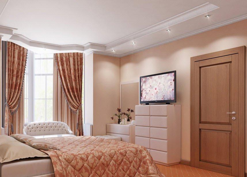 дизайн спальни с эркером фото это