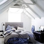 мансардные спальни фото