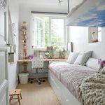дизайн длинной узкой комнаты фото