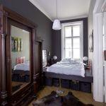 дизайн спальни узкой длинной