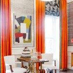 шторы оранжевые