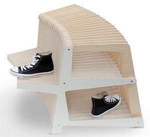 разместить полочку для обуви
