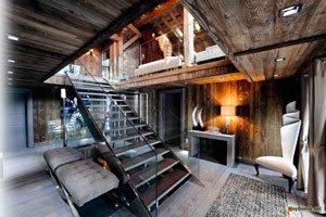 Интерьер современного деревянного дома