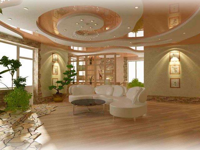 дизайна потолка из гипсокартона