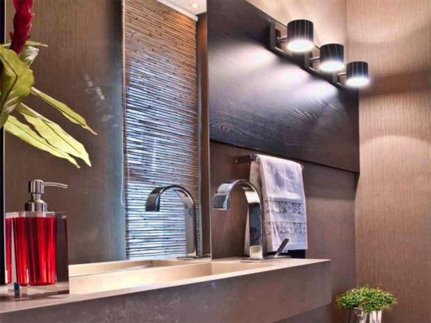 Светильники в интерьере ванной 2017