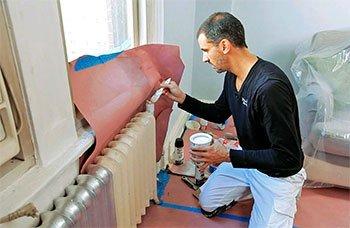 покрасить радиаторы