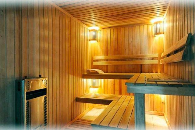 Правила освещения в бане и сауне