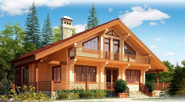 Красивые дома из клееного бруса