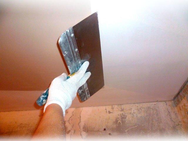 выбрать шпаклёвку для потолка