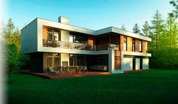 Проектирование дома в стиле модерн