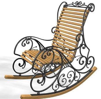 кресла-качалки из металла