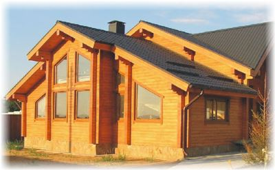 домов из профилированного бруса