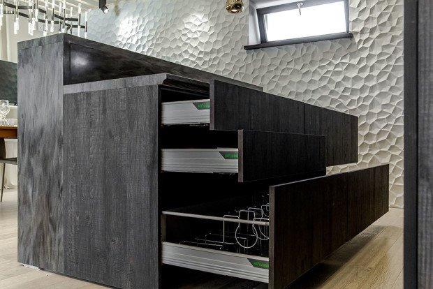 Дизайн-проект кухонного шкафа с выдвижными ящиками для хранения