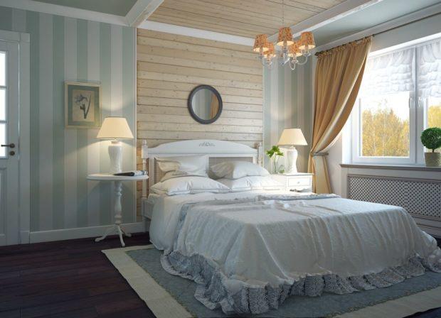 Цветовое оформление деревенской спальни