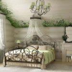 Романтичная деревенская спальня