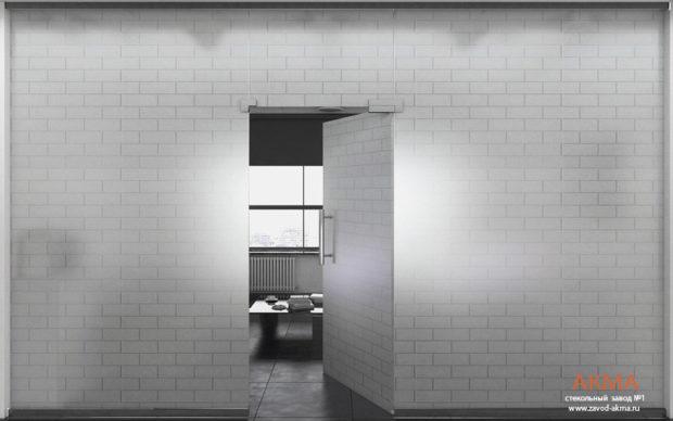 Стеклянные перегородки в квартире стиля лофт